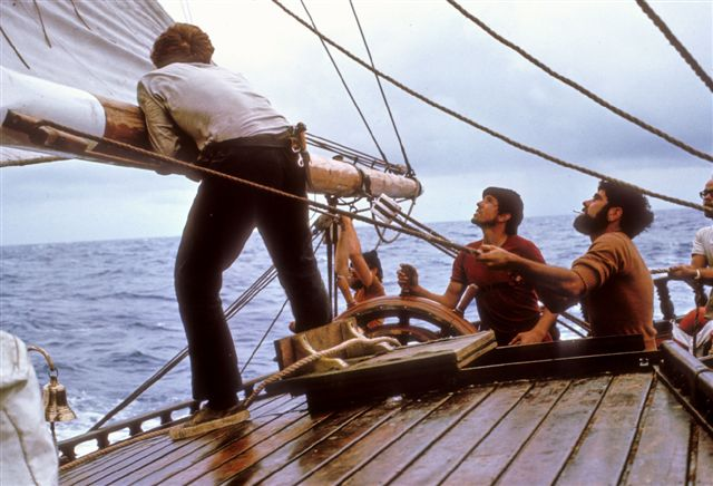 At the helm of the ill-fated Endeavour II in 1971