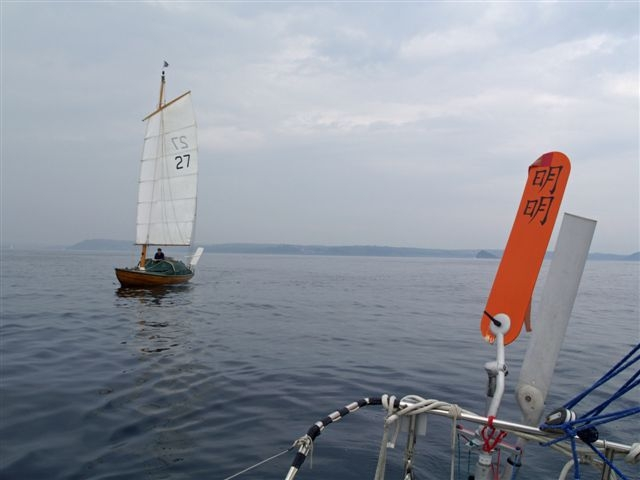 The start of the Jester Azores Challenge. Jester herself astern.